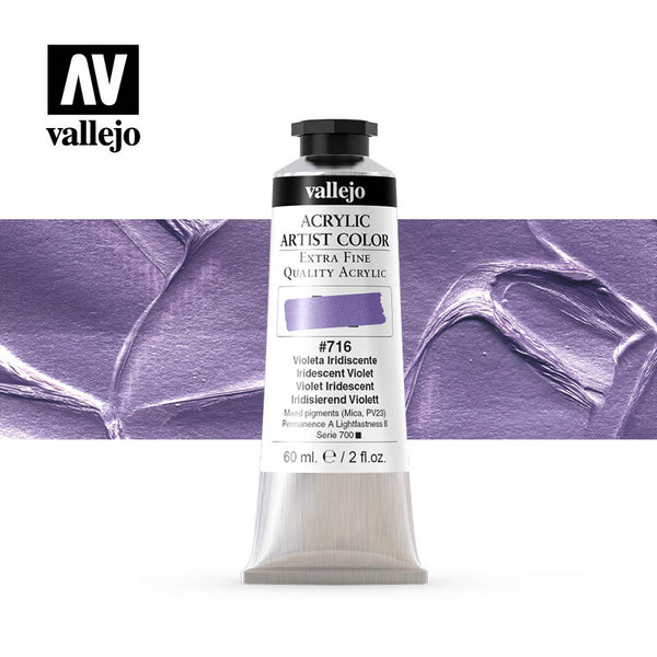 16.716 - Acrylic Artist Color - Iridescent Violet - 60 ml