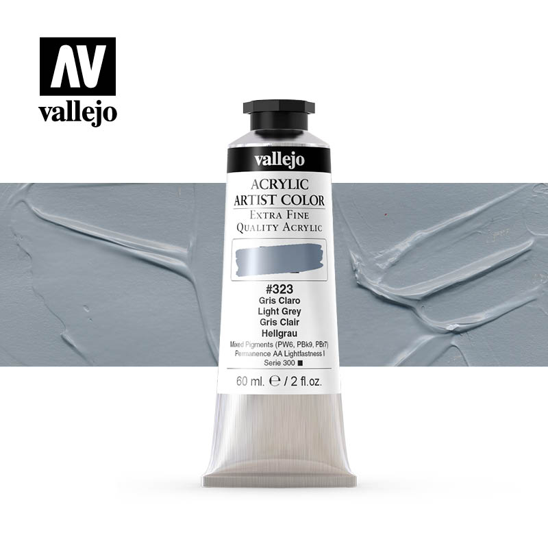 16.323- Acrylic Artist Color - Light Grey - 60 ml