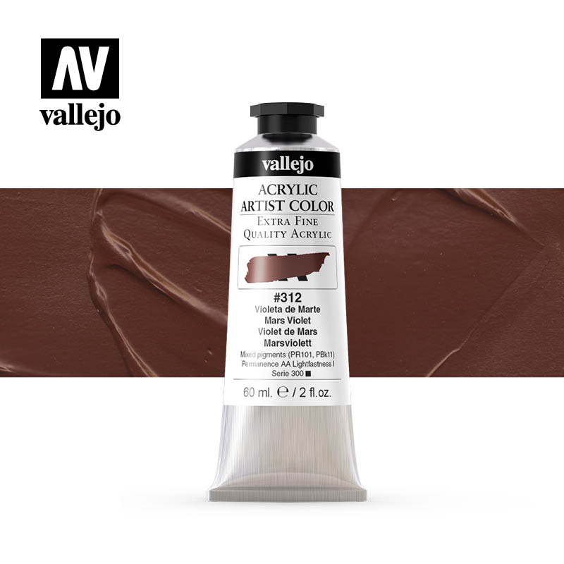 16.312 - Acrylic Artist Color - Mars Violet - 60 ml