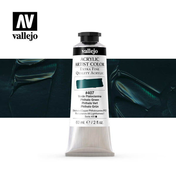 16.407 - Acrylic Artist Color - Phthalo Green - 60 ml