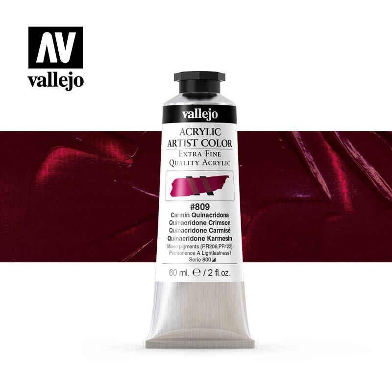16.809 - Acrylic Artist Color - Quinacridone Crimson - 60 ml