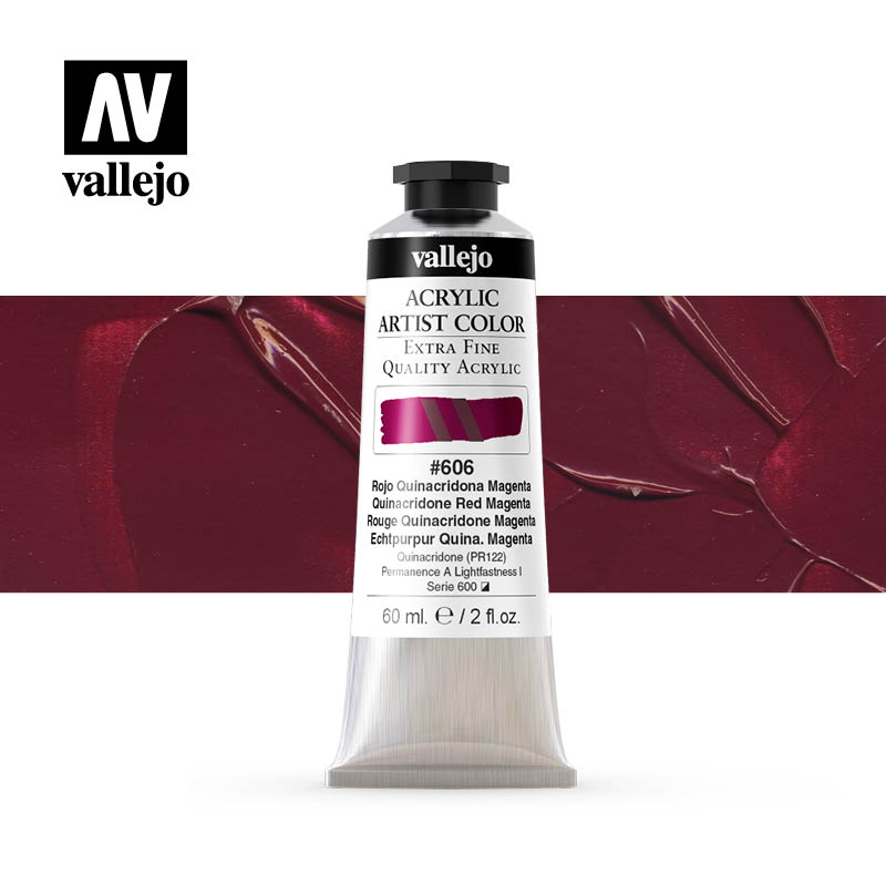 16.606 - Acrylic Artist Color - Quinacridone Red Magenta - 60 ml