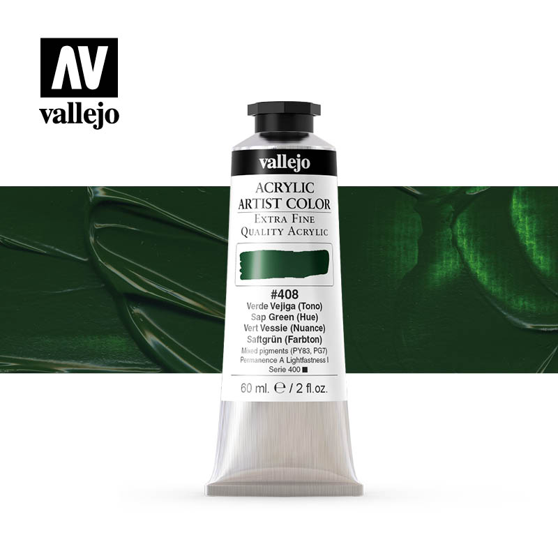 16.408 - Acrylic Artist Color - SAP Green (Hue) - 60 ml