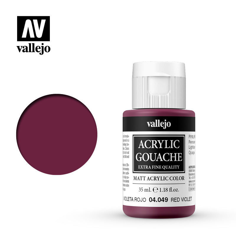 04.049  - Acrylic Gouache 49 - 35 ml - Red Violet