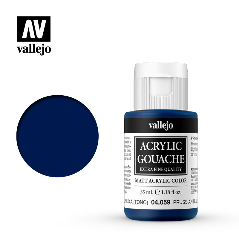 04.059  - Acrylic Gouache 59 - 35 ml - Prussian Blue (Hue)
