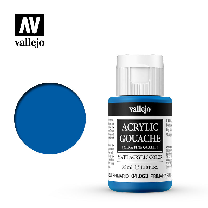 04.063  - Acrylic Gouache 63- 35 ml - Primary Blue
