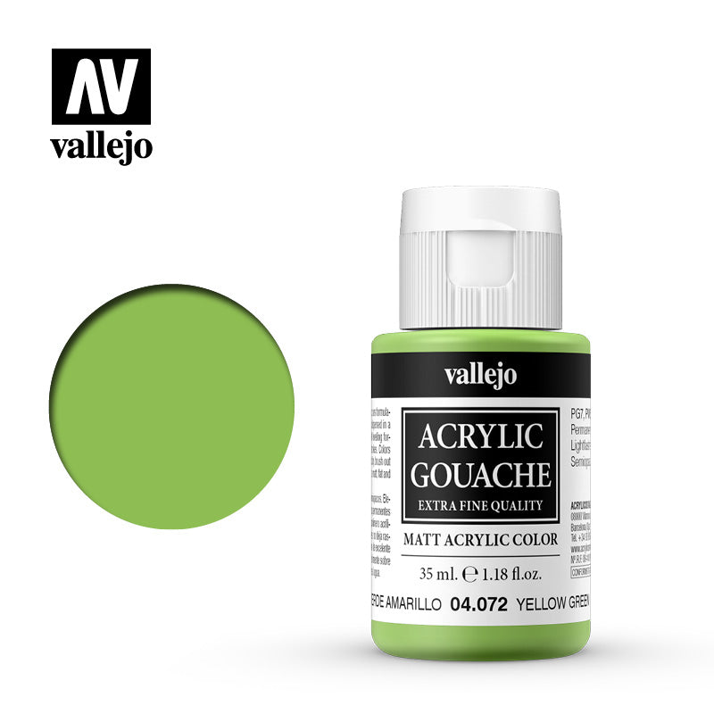 04.072  - Acrylic Gouache 72 - 35 ml - Yellow Green