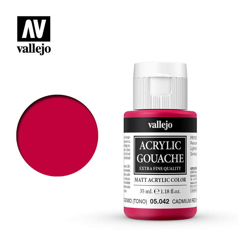 05.042  - Acrylic Gouache 42 - 35 ml - Cadmium Red (Hue)
