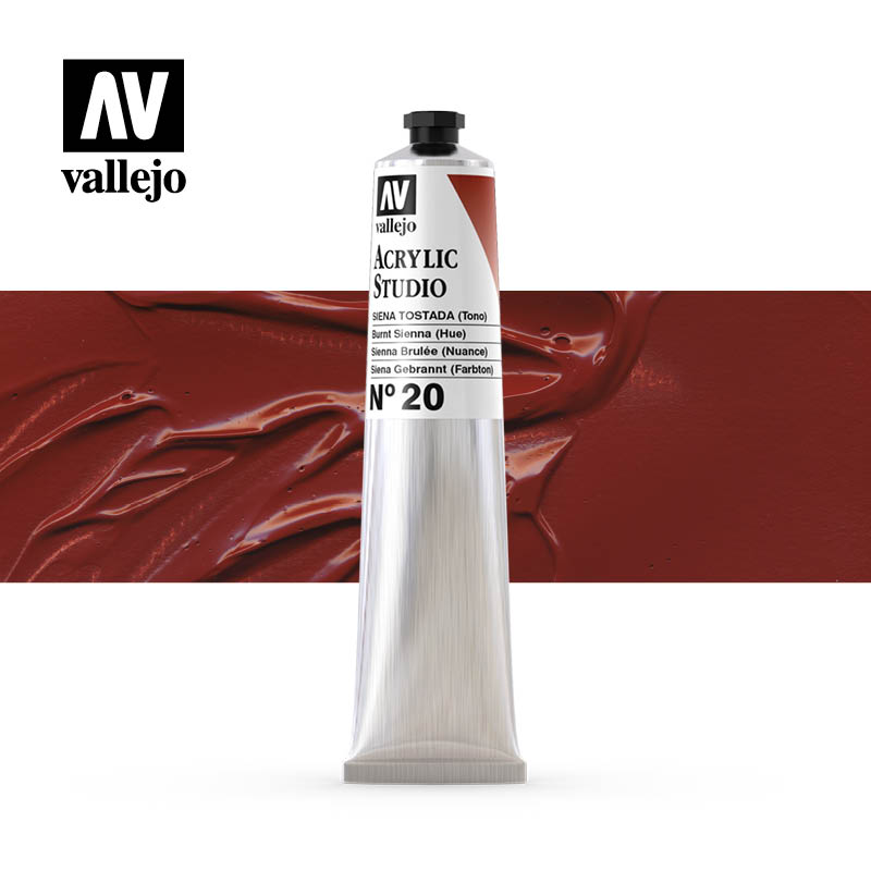 21.020 - Burnt Sienna (Hue)- Acrylic Studio - 58 ml