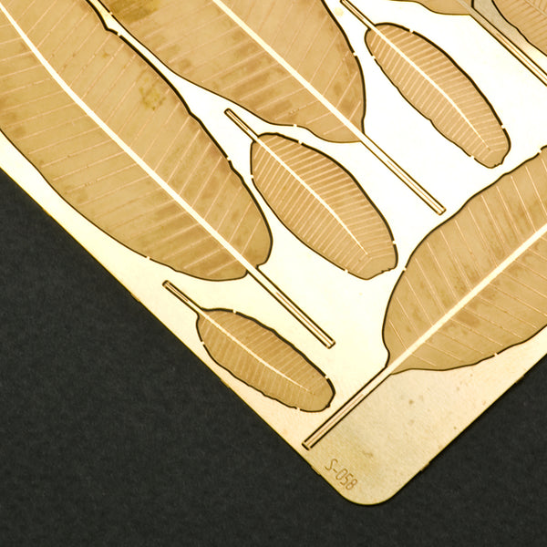 S-058 - Banana Leaves - Photo Etch set - Size M - 70 x 100 mm