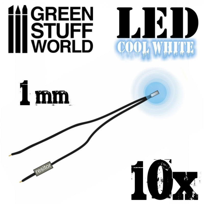 1478 - Cool White LED 1mm (Ten Pack)