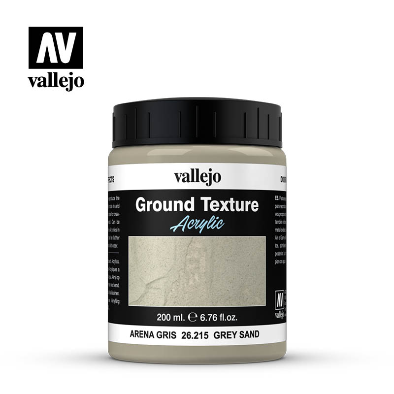 26.215 Ground Textures 215-200 ml - Grey Sand - Vallejo Diorama Effects - Supernova Studio