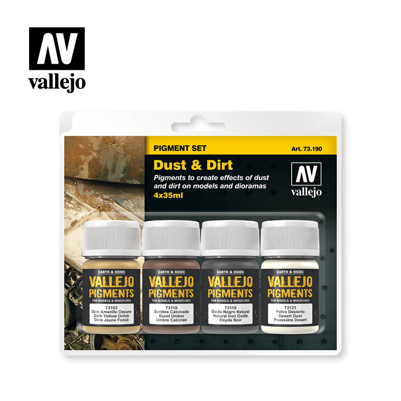 73.190 Dust & Dirt - Vallejo Pigment Set