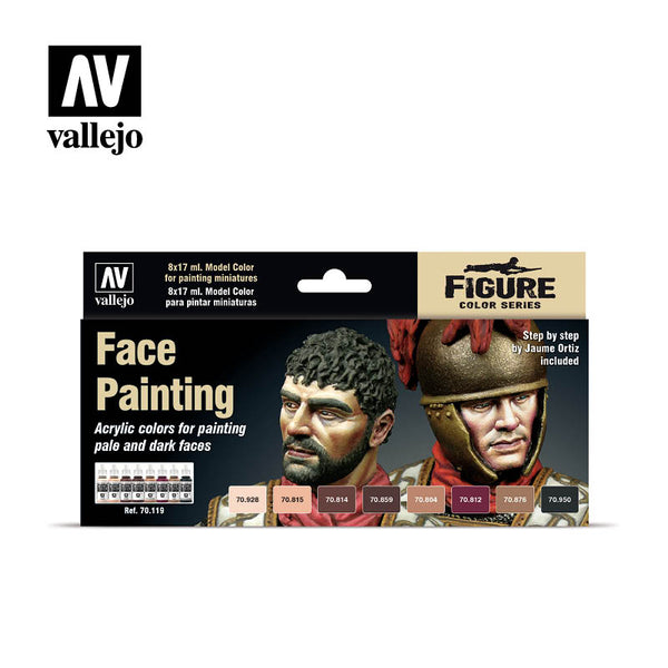 70.119  Faces Painting Set (8) - Model Color Set