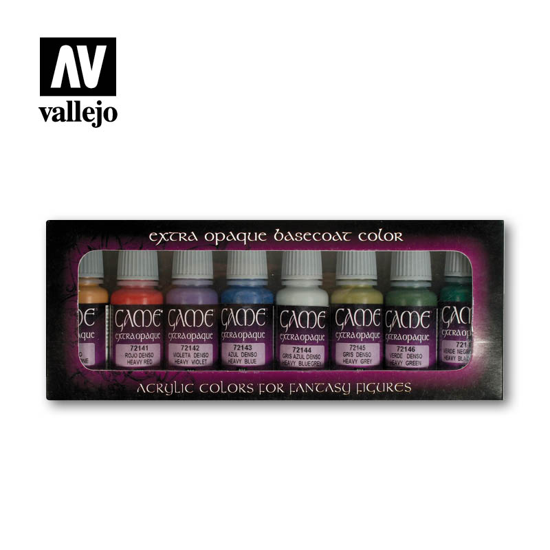 72.294 Extra Opaque Colors (8) - Vallejo Game Color Set - Supernova Studio
