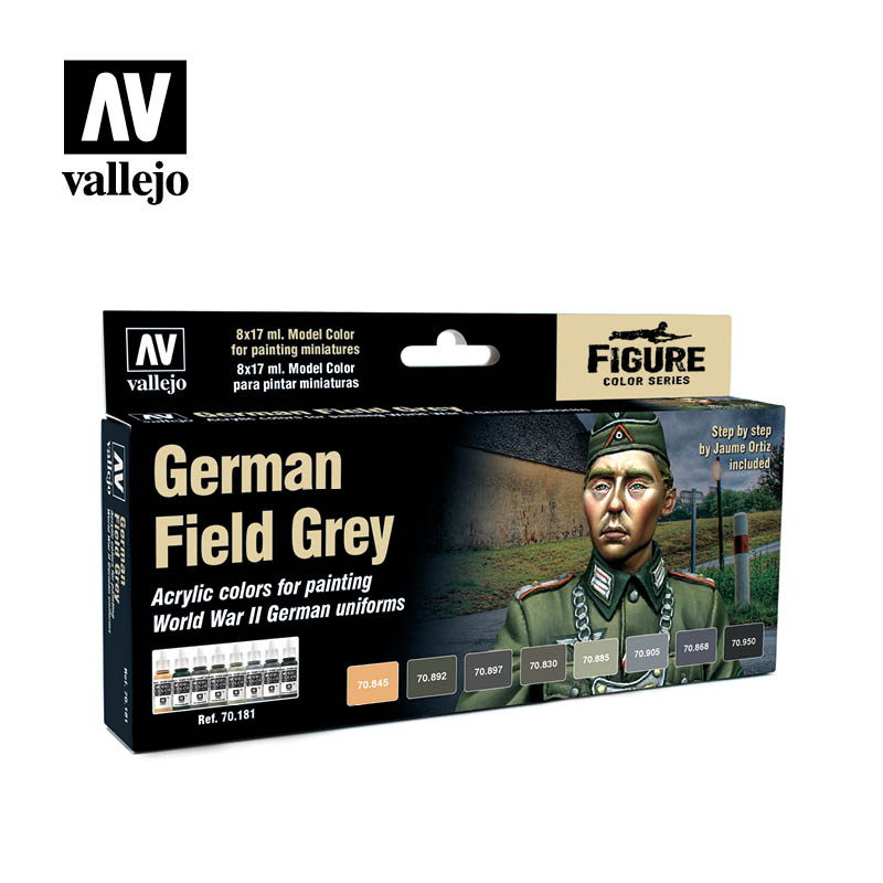 70.181  German Field Grey Uniform (8) - Model Color Set - Supernova Studio