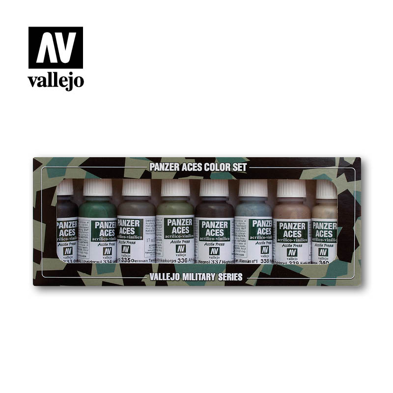 70.128 German Crew Uniforms (8) Colour Set - Vallejo Panzer Aces