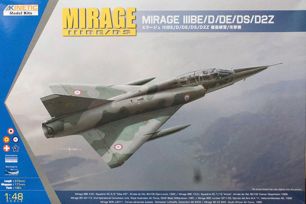 KIN48054 - Kinetic 1/48 South African Dassault Mirage IIID/DS Fighter