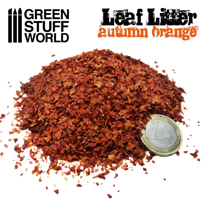 1264 - Leaf Litter -  Orange Autumn
