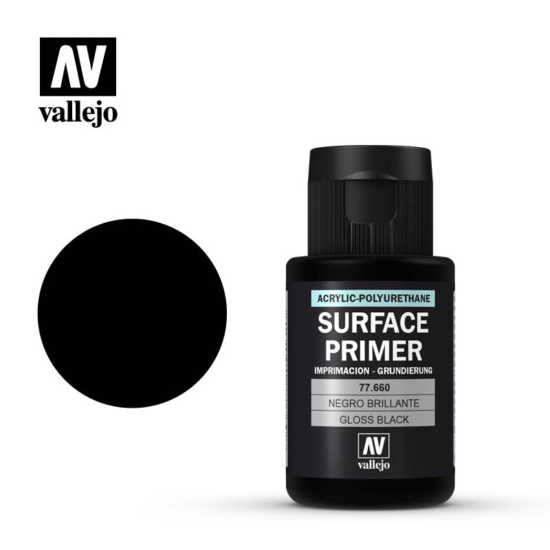 77.660 Gloss Black Primer - 32 ml - Metal Colour - Auxiliary - Supernova Studio