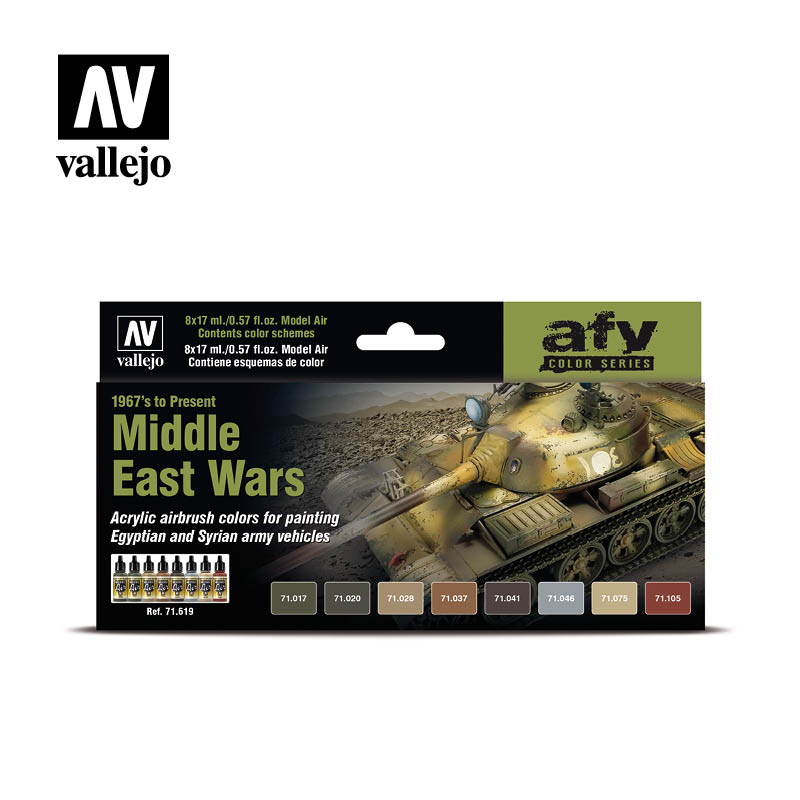 71.619 Middle East Wars 1967's to Present (8) - Vallejo Model Air Set