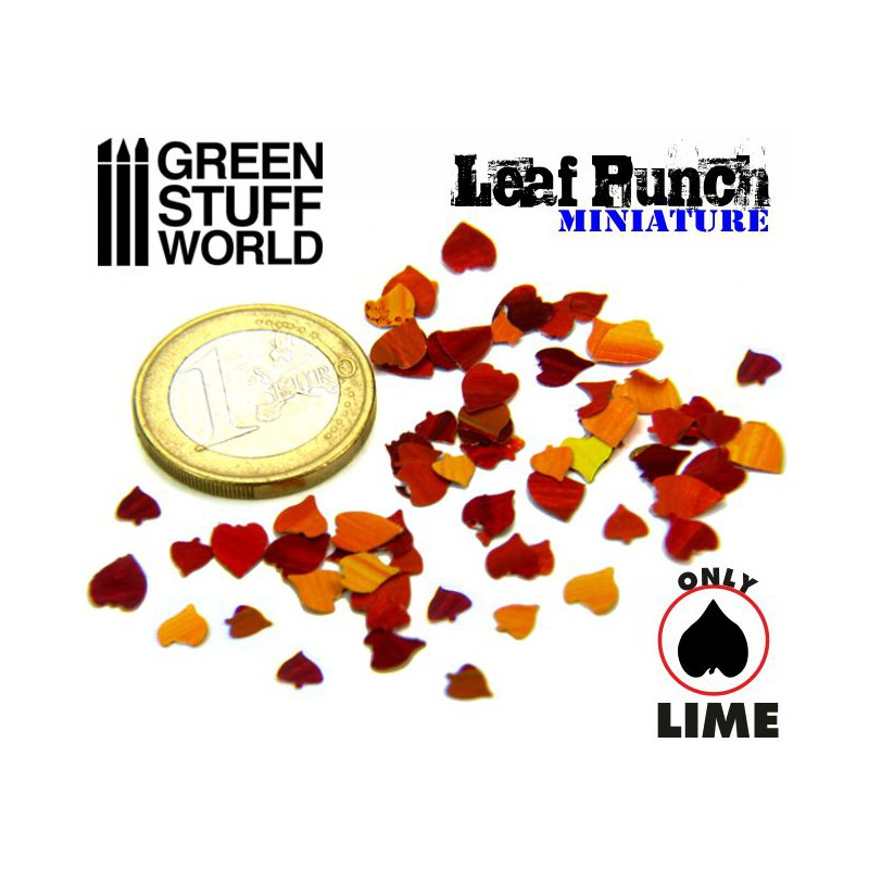 1311 - Leaf Punch - Lime Leaf (Dark Green) 1:16, 1:22 & 1:30