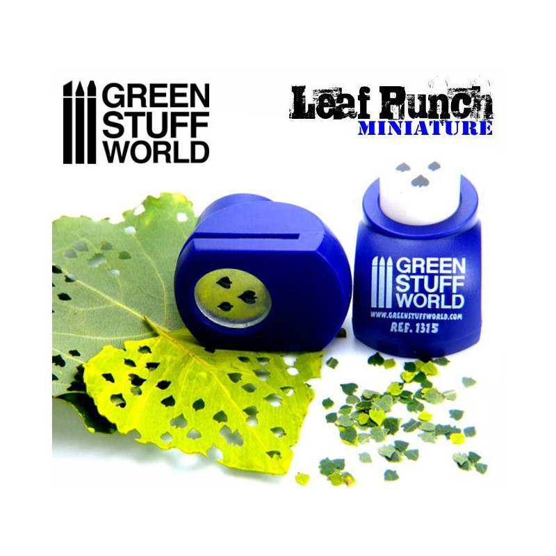 1315 - Leaf Punch - Lime Leaf (Dark Purple) 1:35, 1:43 & 1:48