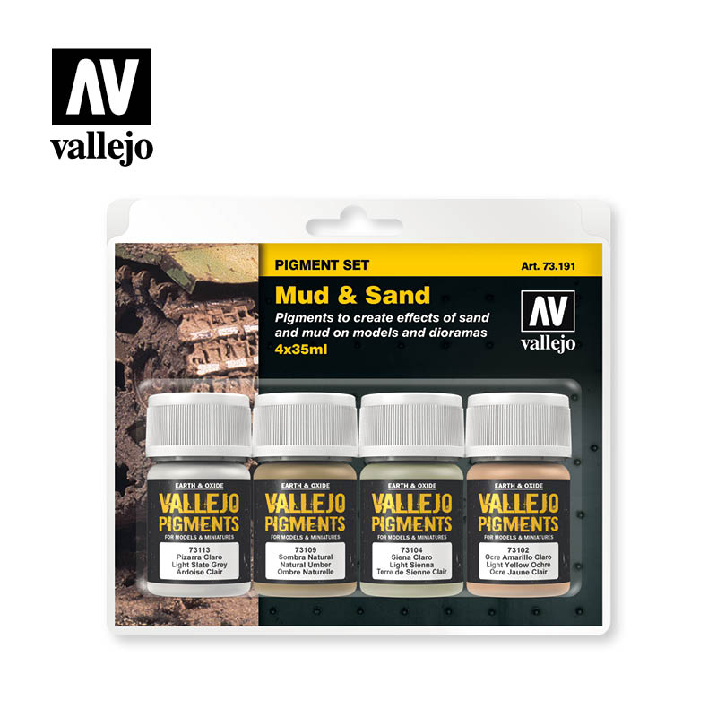 73.191 Mud & Sand - Vallejo Pigment Set