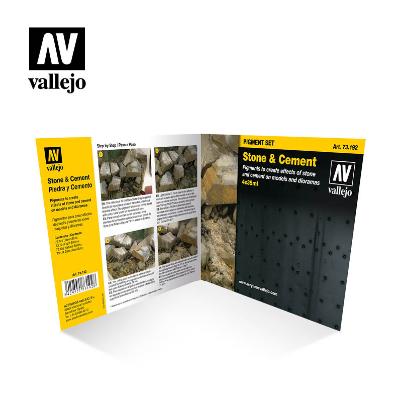 73.192 Stone & Cement  - Vallejo Pigment Set