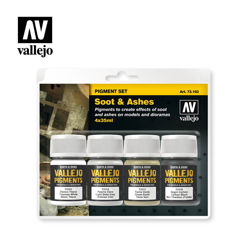 73.193 - Soot & Ashes - Vallejo Pigment Set