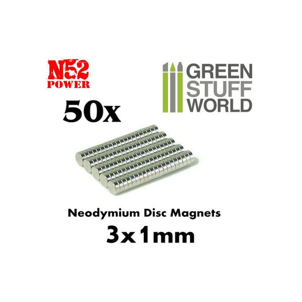 Neodymium Magnets 3x1mm - set x 50