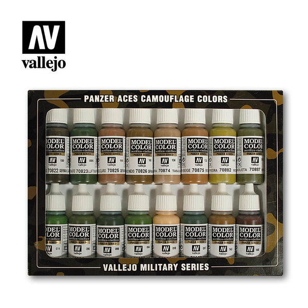 70.179 Camouflage 16 Colour Set - Vallejo Panzer Aces