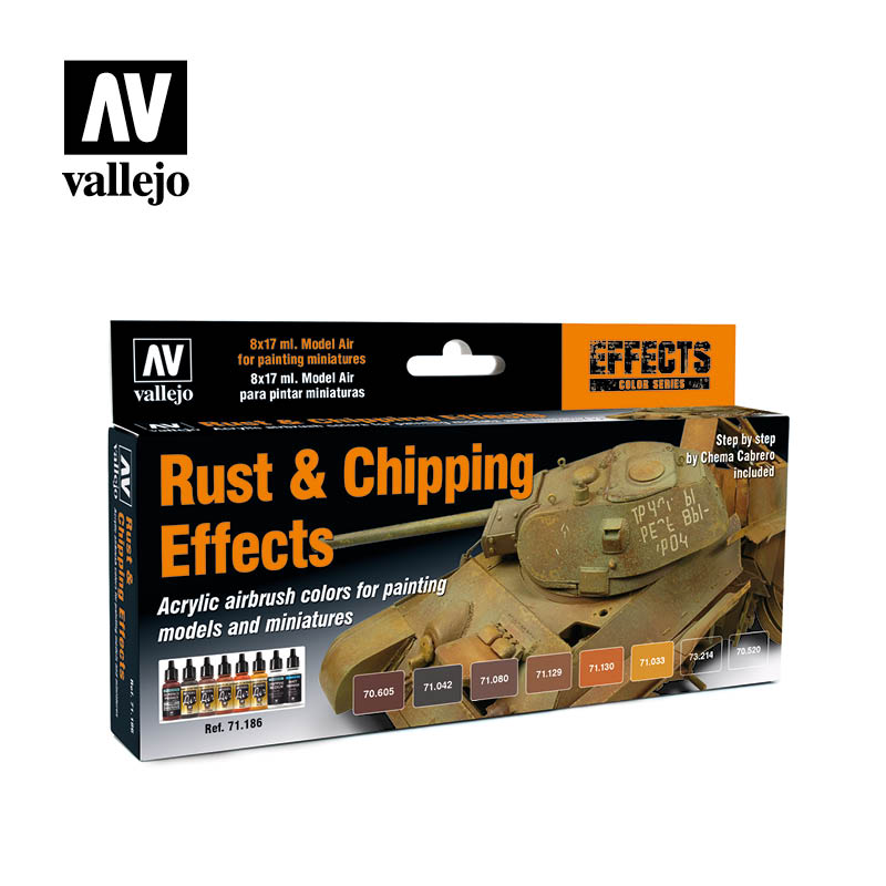 71.186 Rust & Chipping Effects (8) - Vallejo Model Air Set