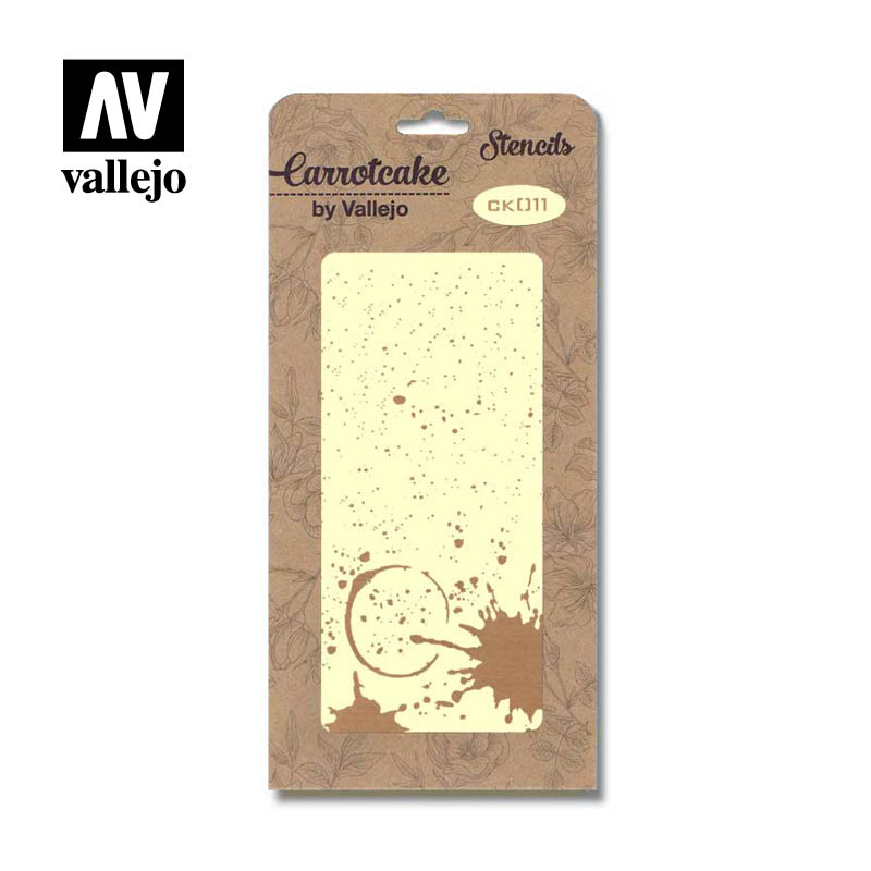 CK011 - Stencil - Antique - Splatter - 125 x 250 mm