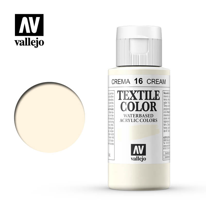 40.016 - Cream - Opaque - Textile Color - 60 ml