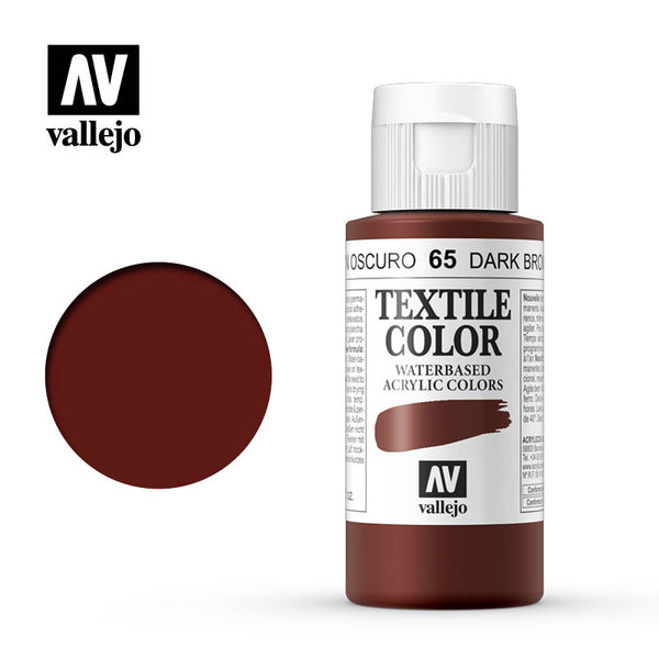 40.065 - Dark Brown - Opaque - Textile Color - 60 ml