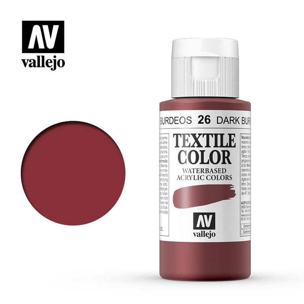 40.026 - Dark Burgundy - Opaque - Textile Color - 60 ml