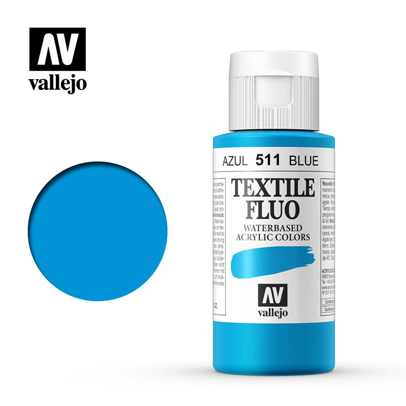 40.511 - Blue - Fluorescent - Textile Color - 60 ml