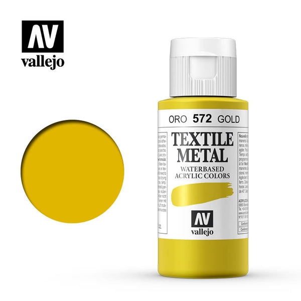 40.572 - Gold - Metallic - Textile Color - 60 ml