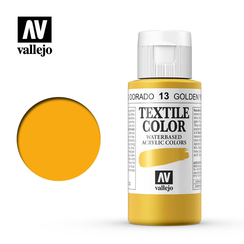 40.013 - Golden Yellow - Opaque - Textile Color - 60 ml