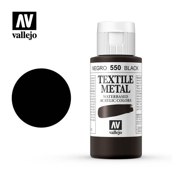 40.550 - Black - Metallic - Textile Color - 60 ml