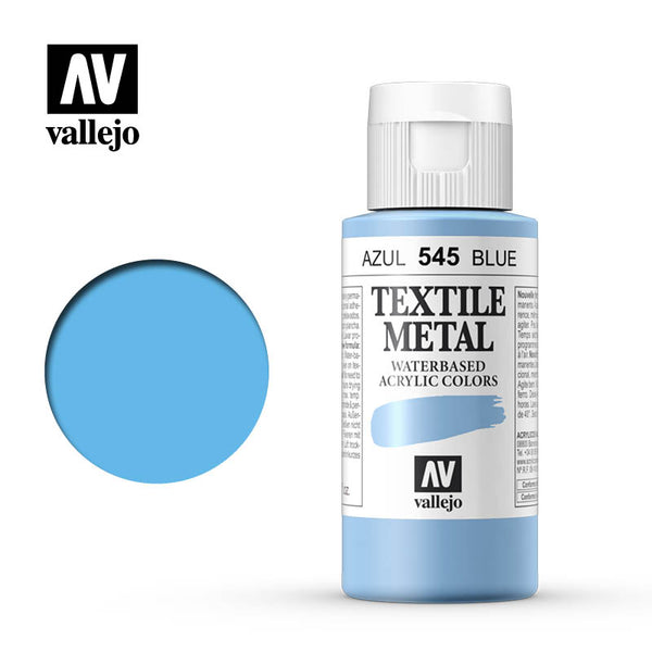 40.545 - Blue - Metallic - Textile Color - 60 ml