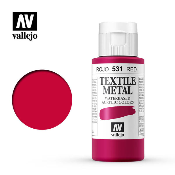 40.531 - Red - Metallic - Textile Color - 60 ml
