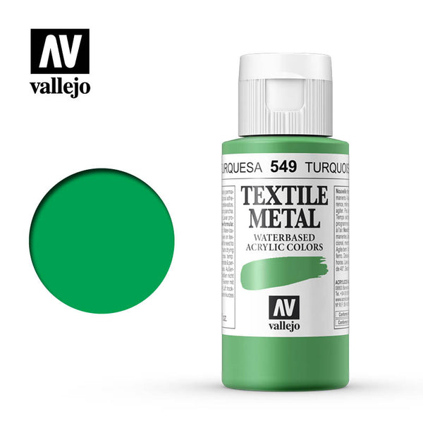 40.549 - Turquoise - Metallic - Textile Color - 60 ml
