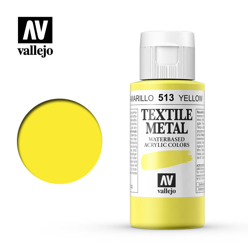 40.513 - Yellow - Metallic - Textile Color - 60 ml