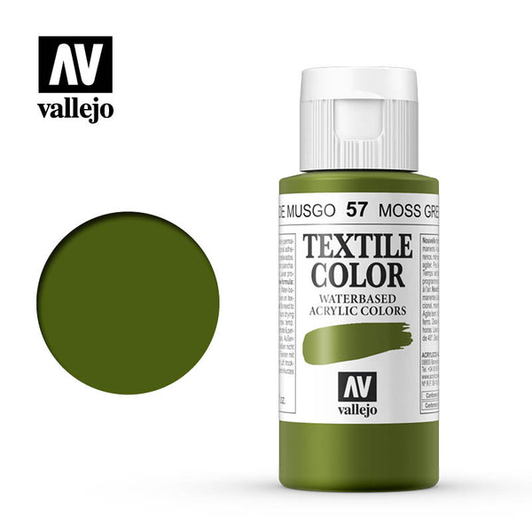 40.057 - Moss Green - Opaque - Textile Color - 60 ml