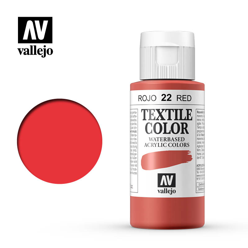 40.022 - Red - Opaque - Textile Color - 60 ml