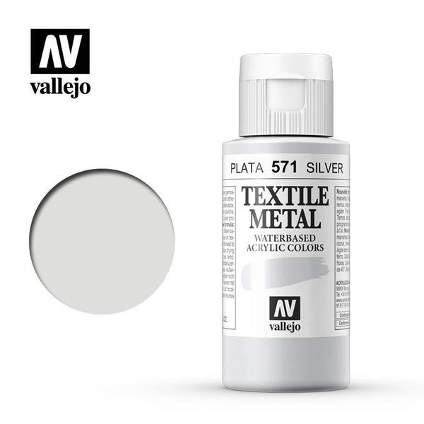 40.571 - Silver - Metallic - Textile Color - 60 ml