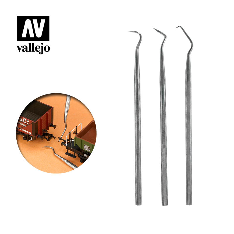 T02001 - Vallejo Set of 3 Stainless Steel Probes
