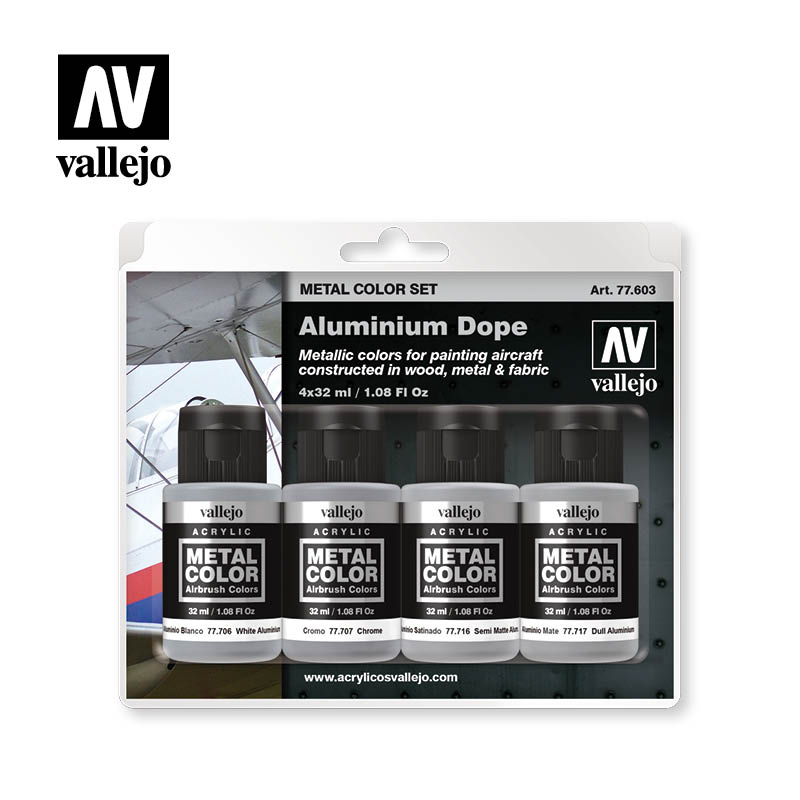 77.603 Aluminium Dope  - Vallejo Metal Color Set